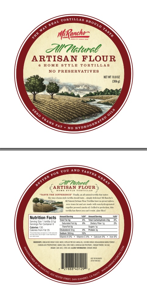 Mi-Rancho-All-Natural-Artisan-Flour-Label